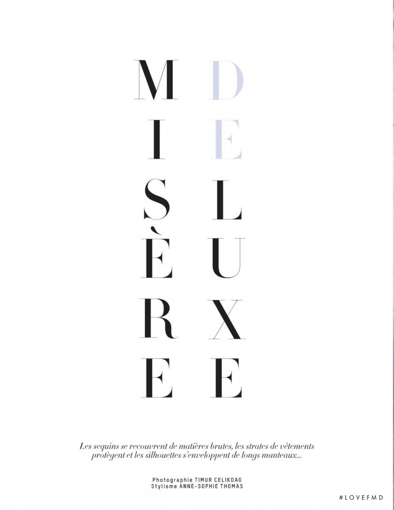 Marta Dyks featured in Misere Deluxe, September 2013
