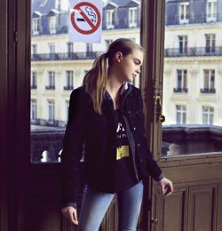 Cara Delevingne: Paris Fashion Week Fall 2013