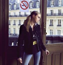 Cara Delevingne: Paris Fashion Week Fall 2013