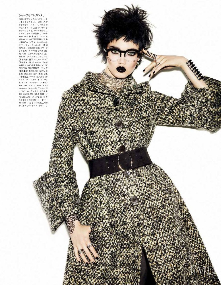 Lindsey Wixson featured in A Classic Rebel, November 2013