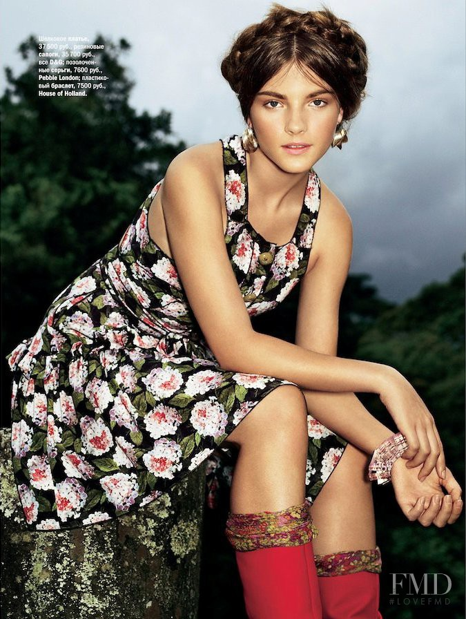 Mayara Rubik featured in Flower Garden, April 2011