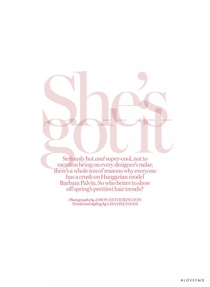 She\'s Got It, March 2014