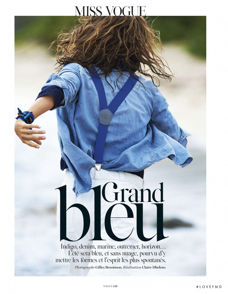 Andreea Diaconu featured in Grand Bleu, April 2014