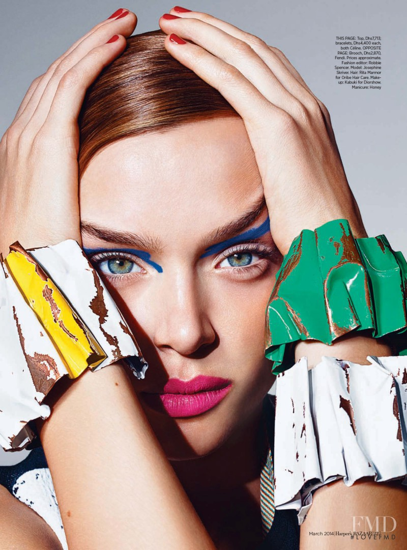 Josephine Skriver featured in Art Inspired, March 2014