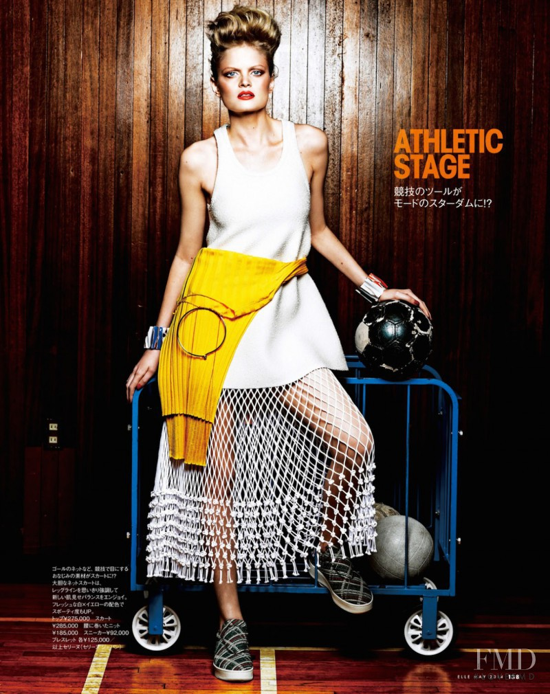 Nathalia Oliveira featured in Sporty, May 2014