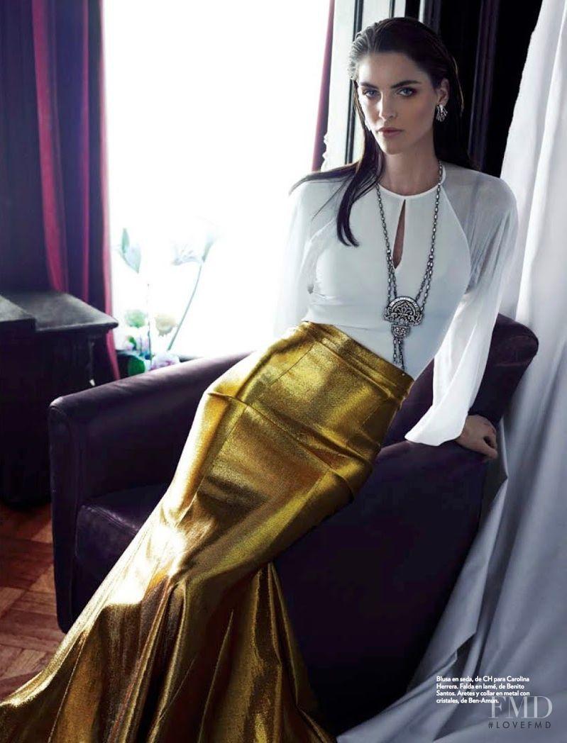 Hilary Rhoda featured in American Beauty, April 2014