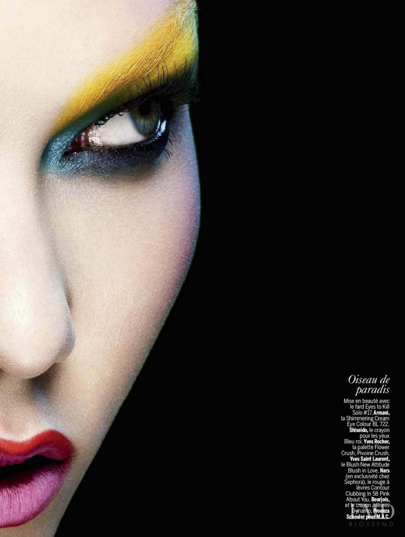 Karlie Kloss featured in Color Power, April 2014