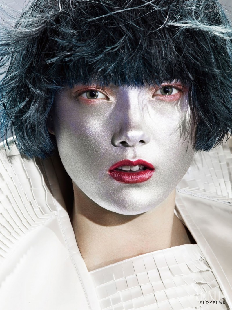 Yumi Lambert featured in Soft Metallic, June 2014
