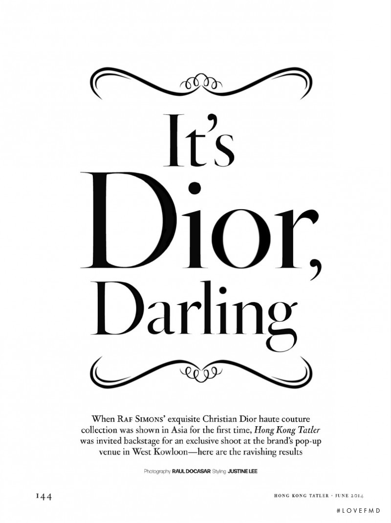 It\'s Dior, Darling, June 2014