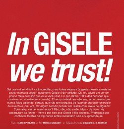 In GISELE we trust!