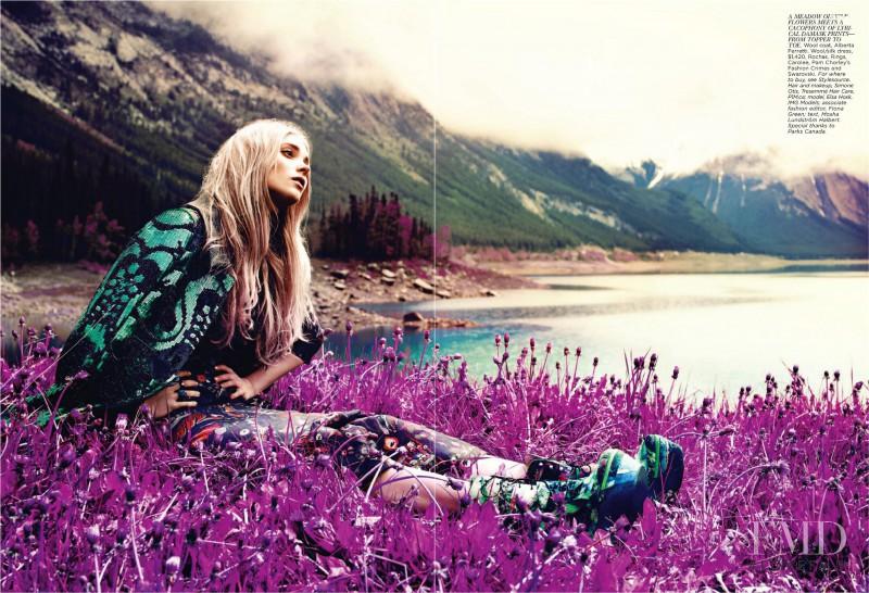 Elsa Hosk featured in Nature of Prints, September 2011