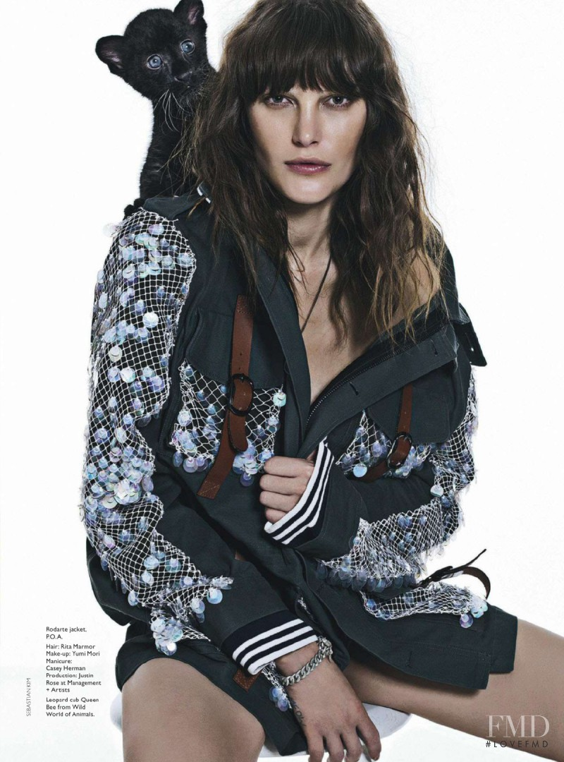 Catherine McNeil featured in Cool Cat, February 2015