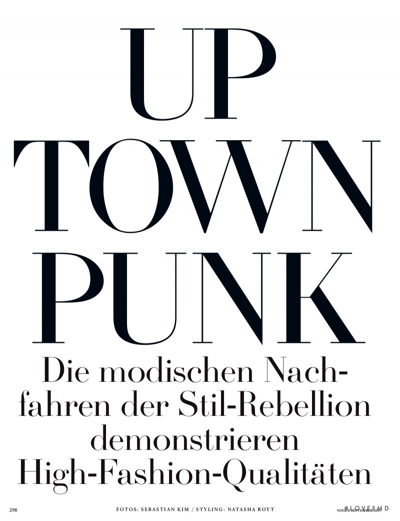 Up Town Punk, September 2015