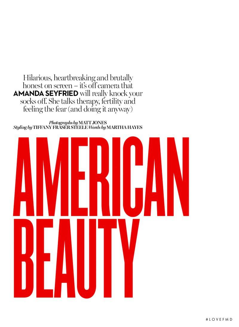 American Beauty, August 2015