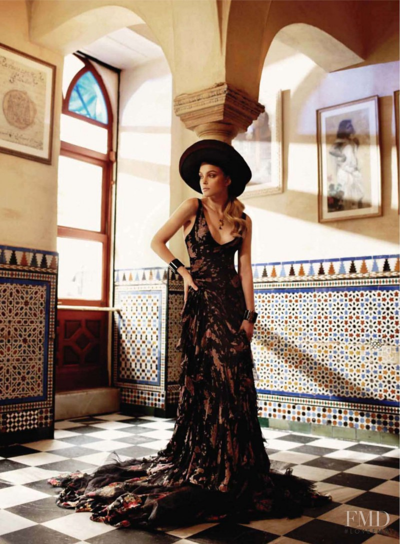 Jessica Stam featured in Spanish Revival, August 2010