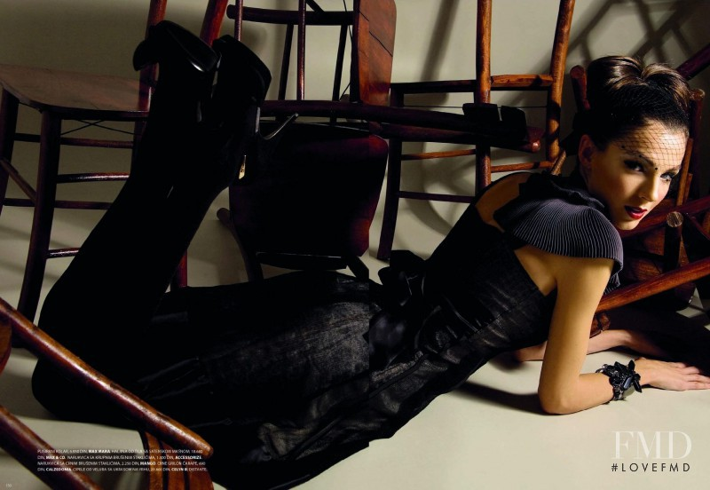 Nina Krstic featured in Glamour, December 2008