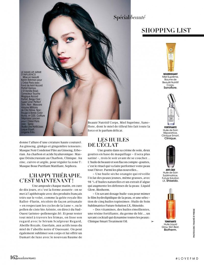 Luma Grothe featured in Glam Béatitude, November 2015