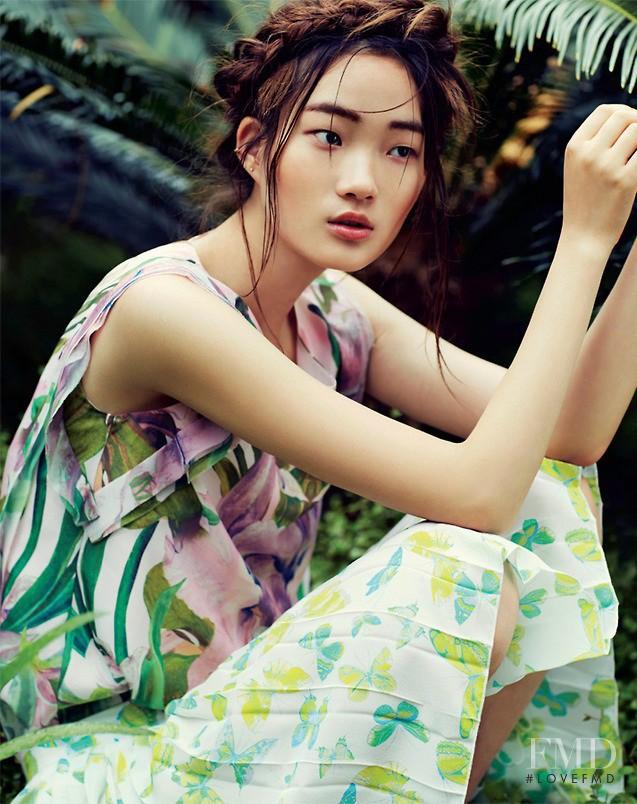 Hyun Ji Shin featured in Tropical Paradise, June 2014