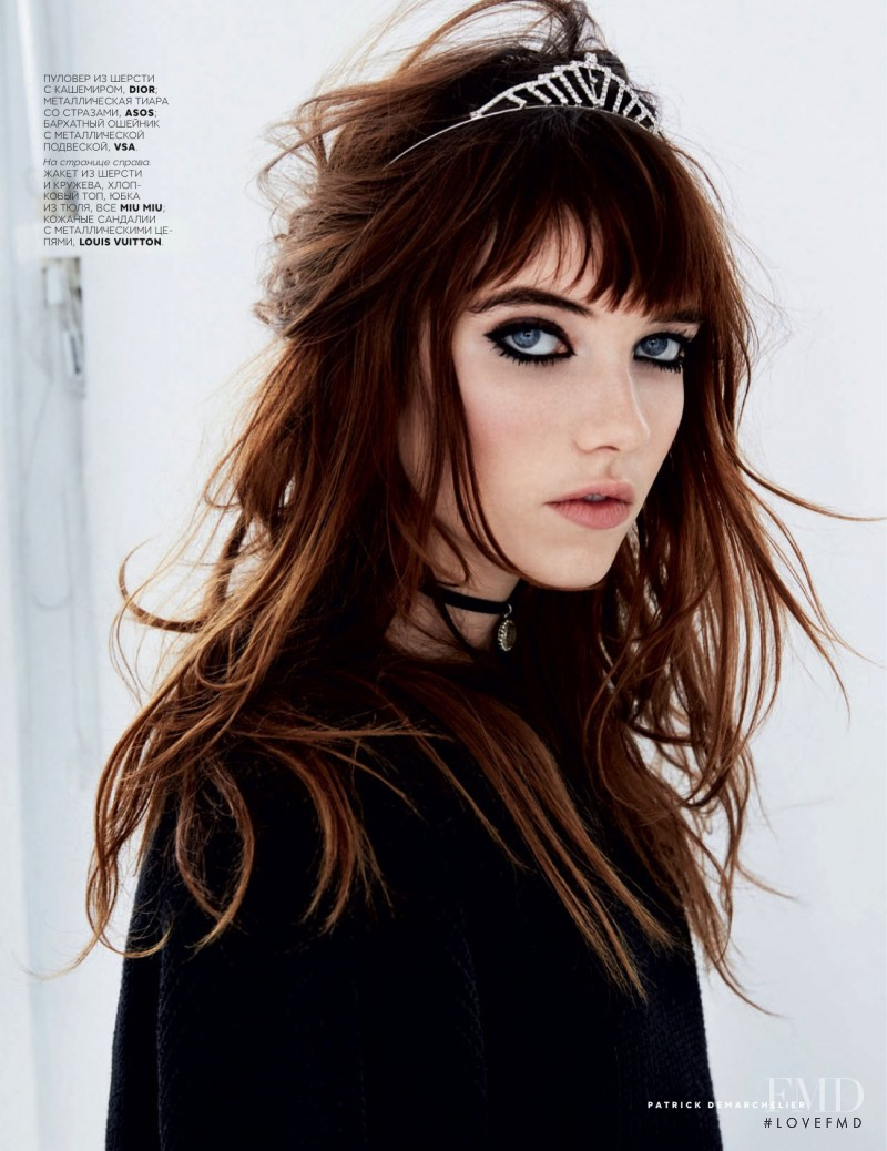 Grace Hartzel featured in Vogue, March 2016