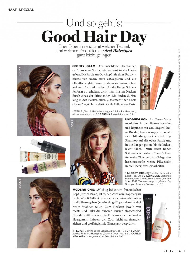 Hedvig Palm featured in Good Hair Day, May 2016