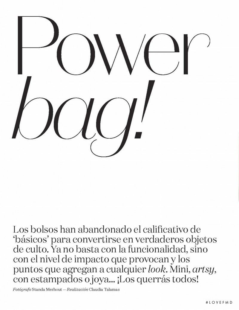 Power bag, May 2016