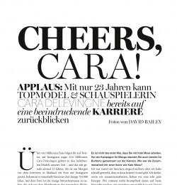 Cheers, Cara!