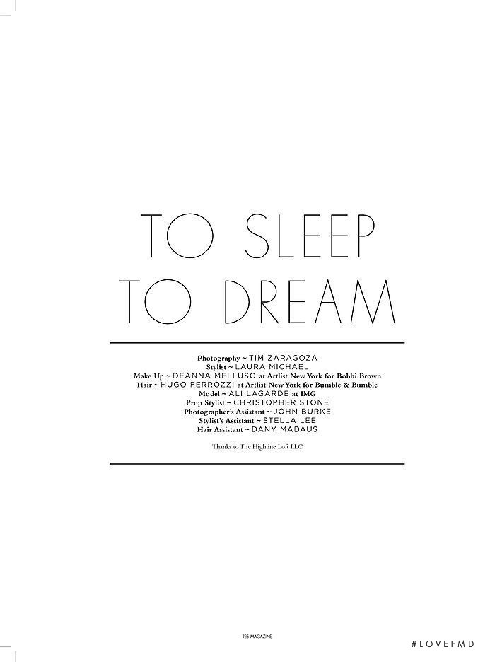 To Sleep, To Dream, December 2011
