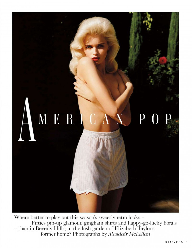 Abbey Lee Kershaw featured in American Pop, March 2012