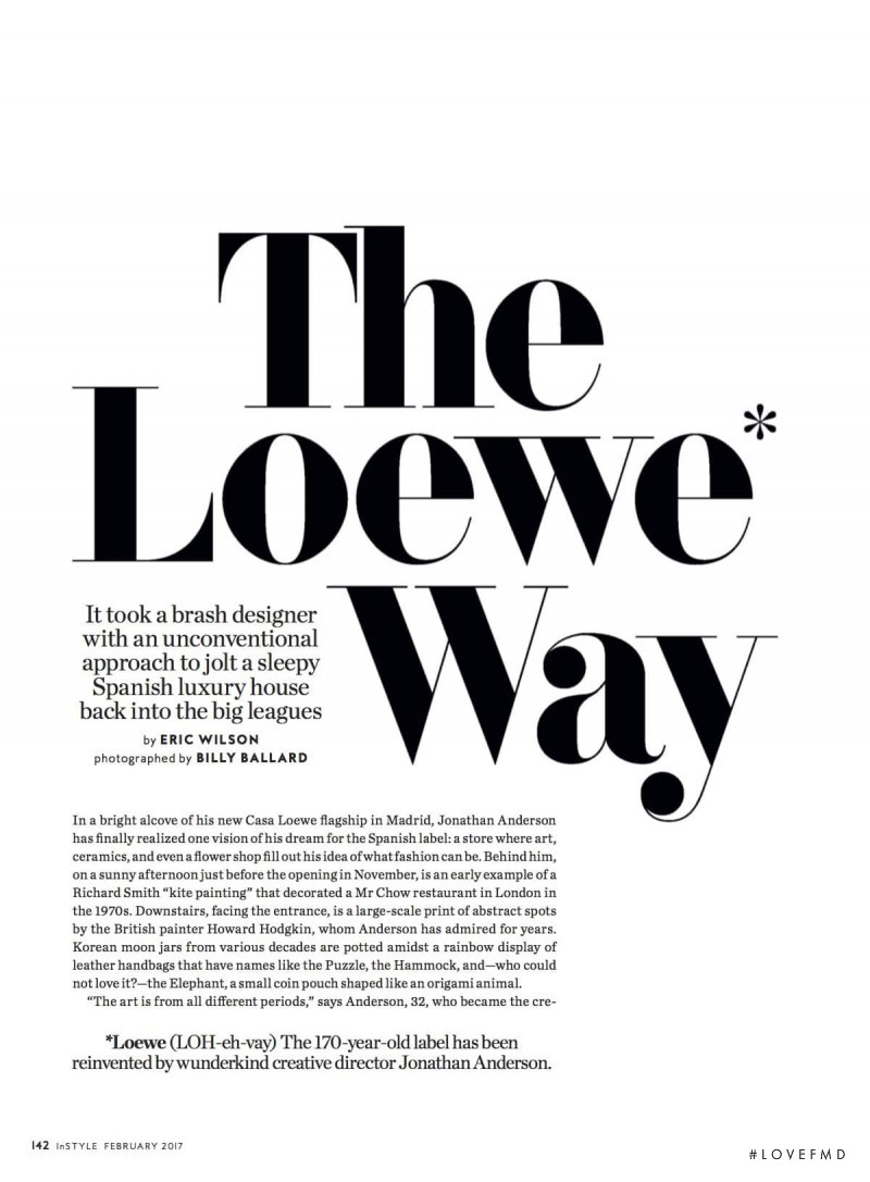 The Loewe Way, February 2017