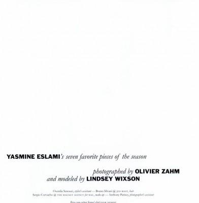 Yasmine Eslami\'s seven favorite pieces fo the season