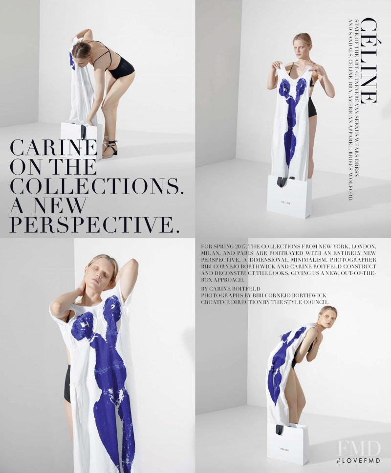 Guinevere van Seenus featured in Carine On The Collections. A New Perspective, March 2017