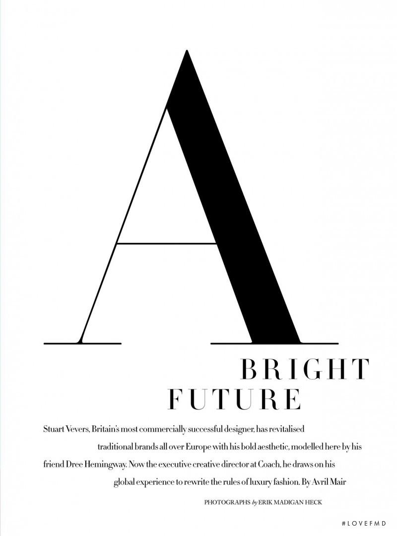 A Bright Future, April 2017