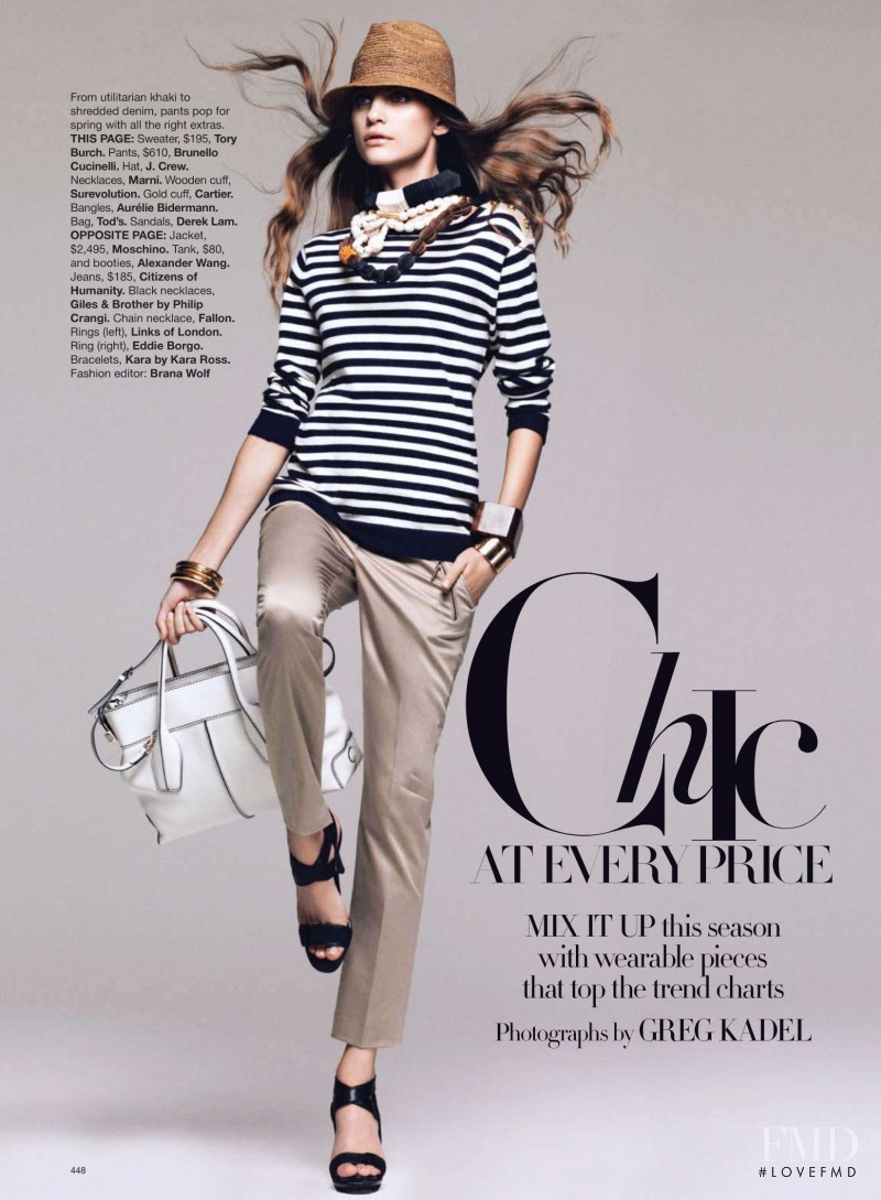 Regina Feoktistova featured in Chic At Every Price, March 2010