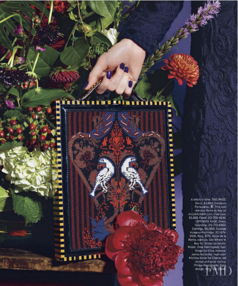 Dree Hemingway featured in Fall\'s Rich Tapestry, October 2012