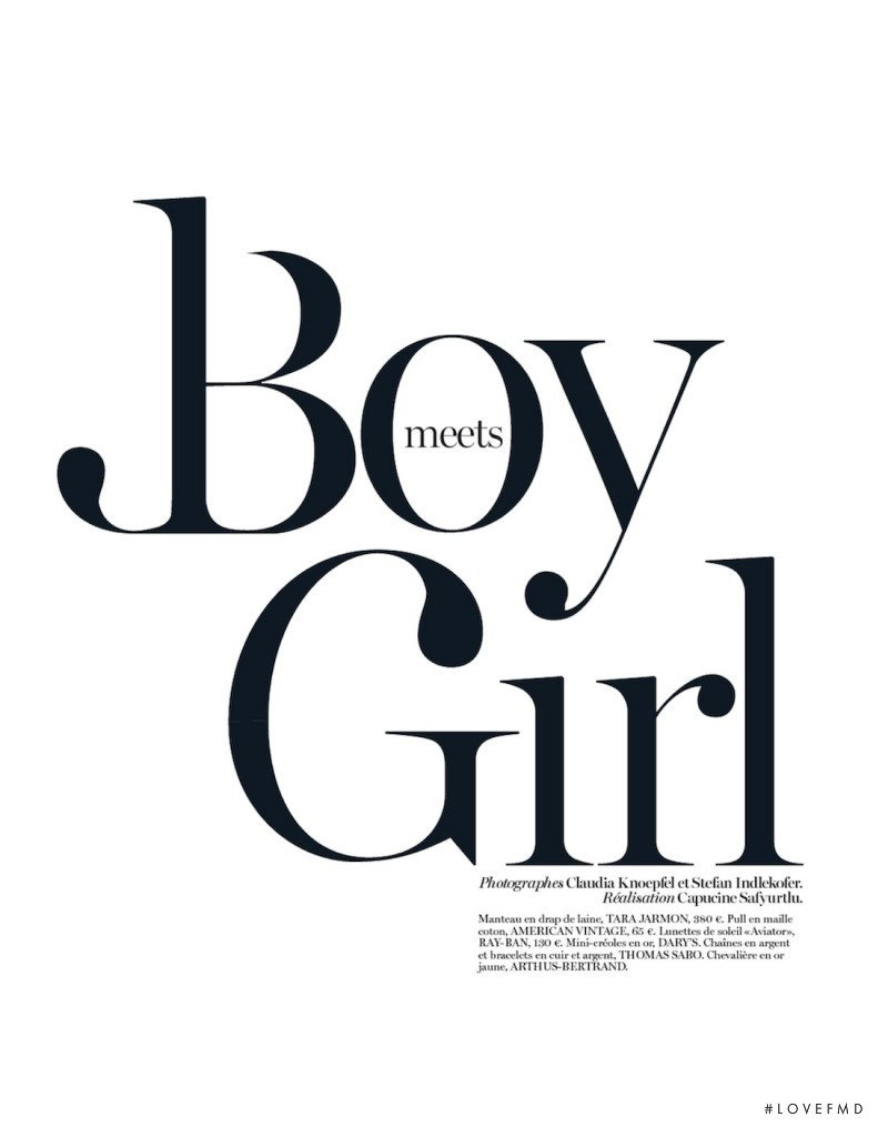 Boy Meets Girl, October 2012