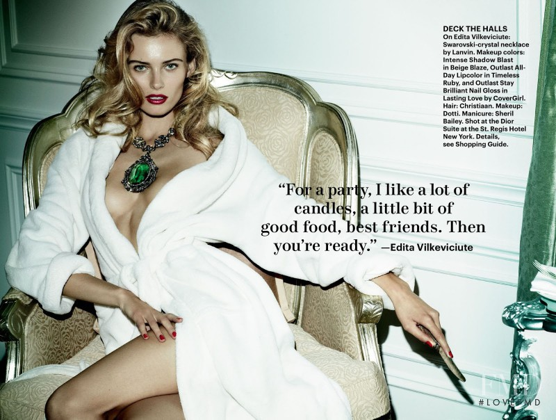 Edita Vilkeviciute featured in Life Of The Party, December 2012