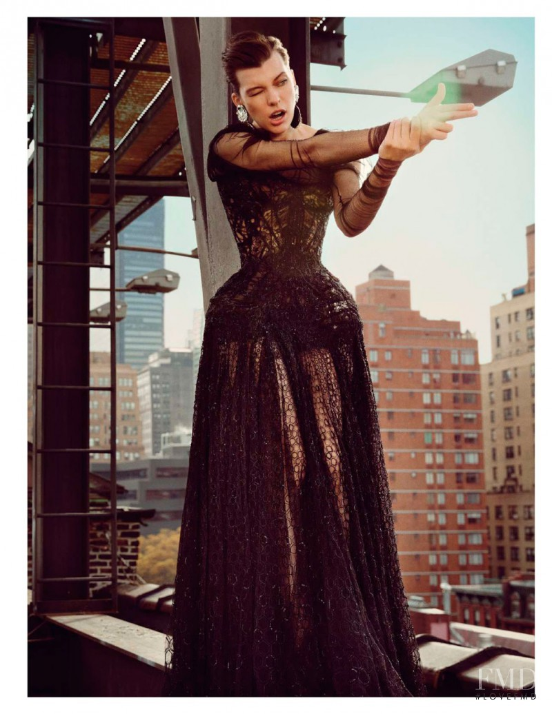 Milla Jovovich featured in Rendez-vous � Manhattan, February 2013