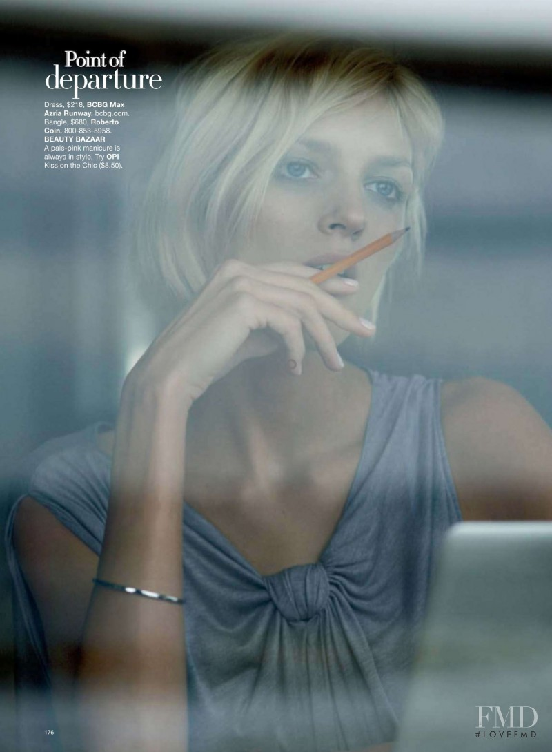 Anja Rubik featured in Back To Basics, February 2009