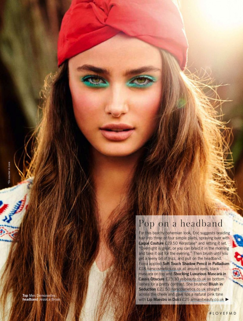 Taylor Hill featured in Hot Beachy Hair, June 2013