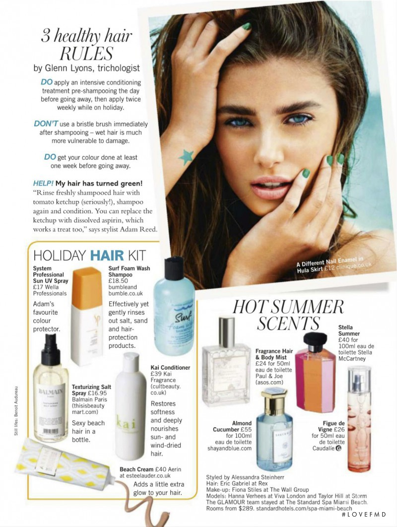 Taylor Hill featured in Your Big Beach Beauty Guide, July 2013