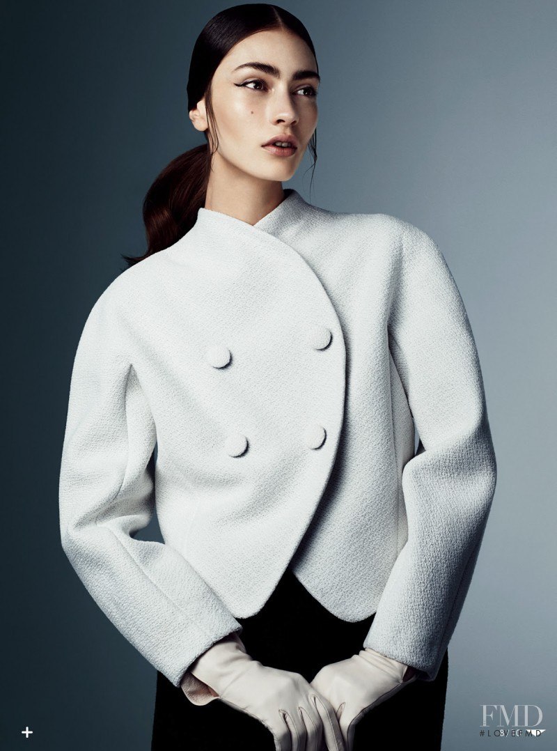 Marine Deleeuw featured in Dressing In Black And White, August 2013