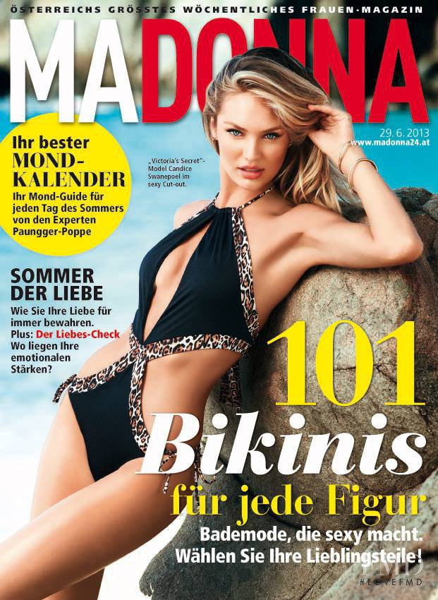 Candice Swanepoel featured on the MADONNA cover from June 2013
