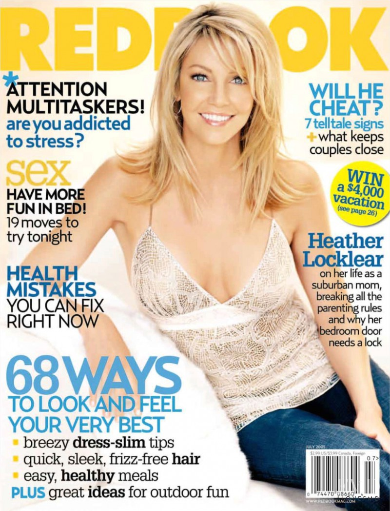 Heather Locklear featured on the Redbook cover from July 2005