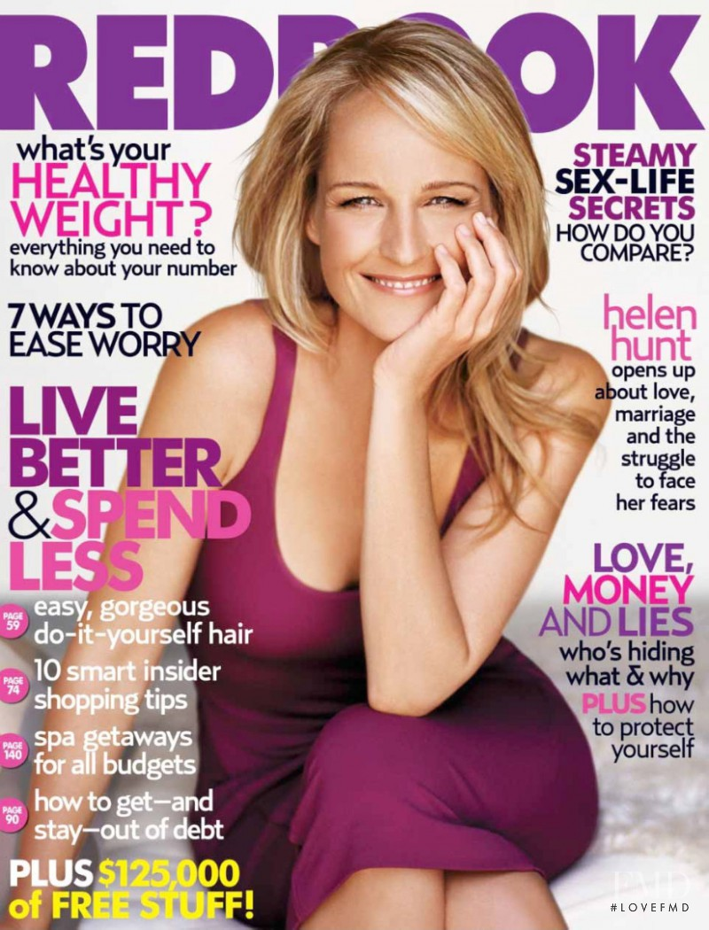 Helen Hunt featured on the Redbook cover from November 2005