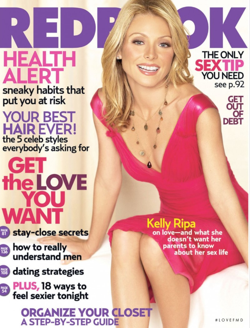 Kelly Ripa featured on the Redbook cover from February 2006
