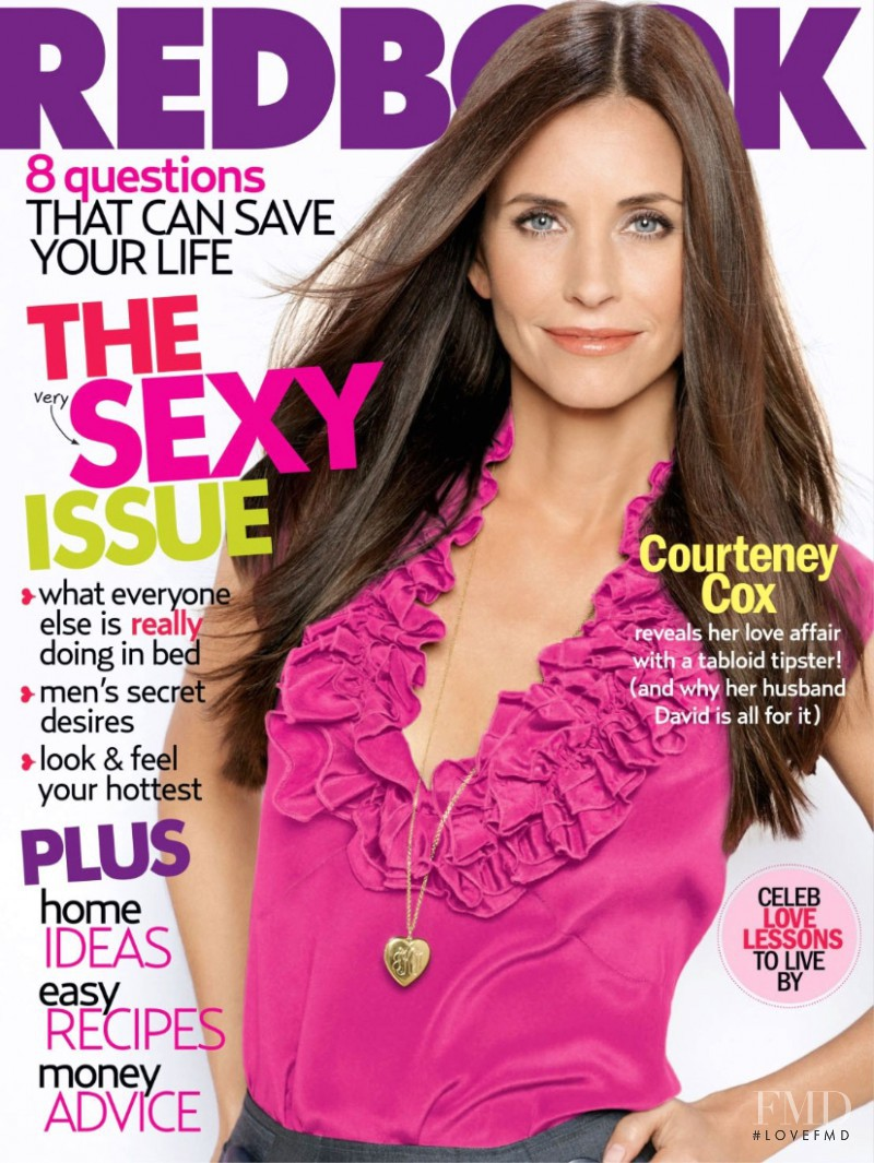 Courteney Cox featured on the Redbook cover from February 2007