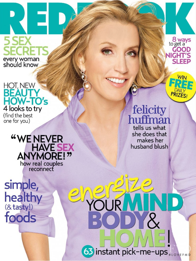 Felicity Huffman featured on the Redbook cover from March 2007