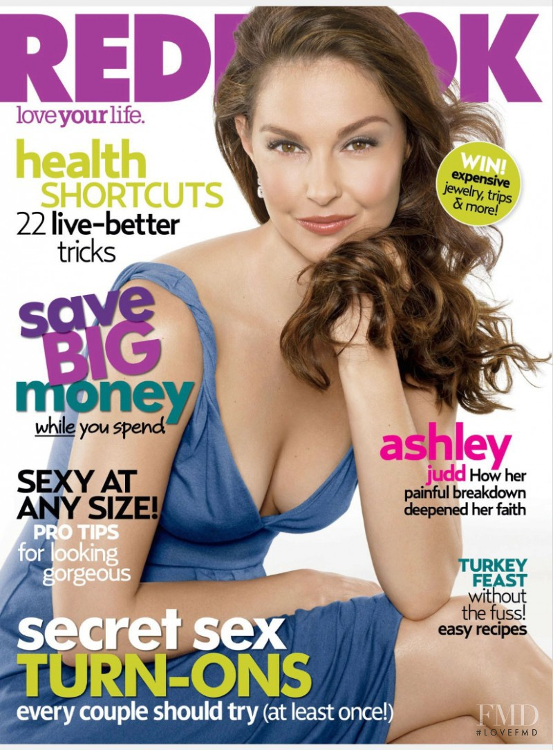 Ashley Judd featured on the Redbook cover from November 2007