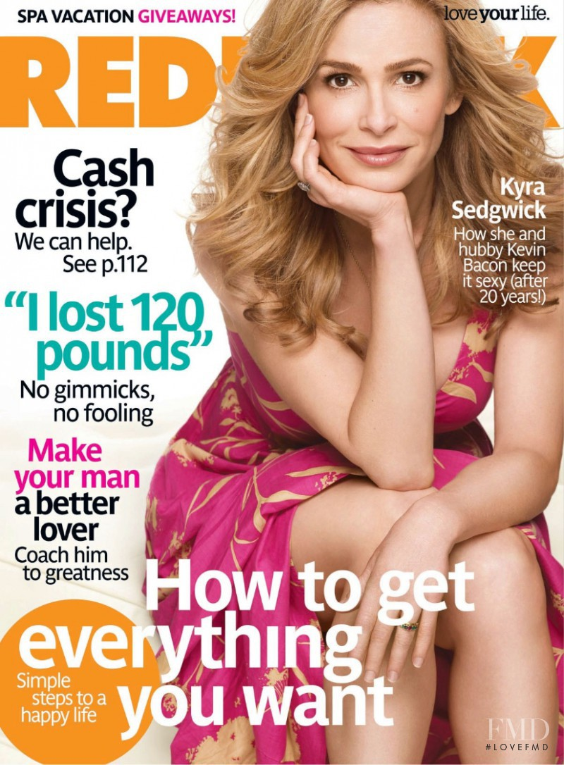 Kyra Sedgwick featured on the Redbook cover from August 2008