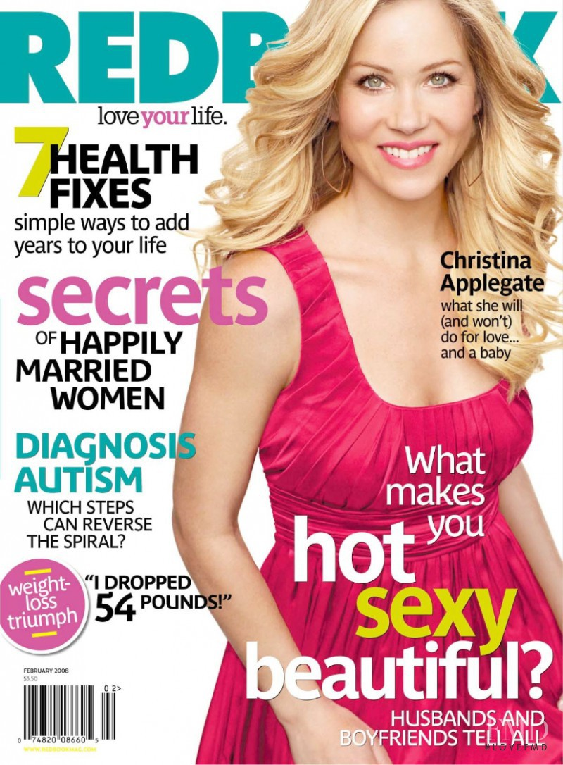 Christina Applegate featured on the Redbook cover from February 2008